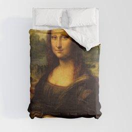 Monalisa, Leonardo Da Vinci, Mona Lisa, original Comforters