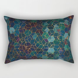 Organic Chemistry - Blue and Copper Rectangular Pillow