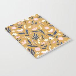 Mustard Floral Pattern Notebook