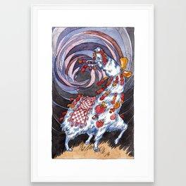 Llama Battle Gear Framed Art Print