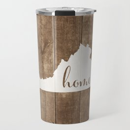Virginia is Home - White on Wood Travel Mug