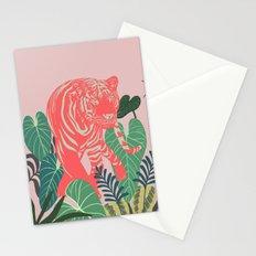 Aloha Tiger, Tiger print, Animal print, jungle print Stationery Cards