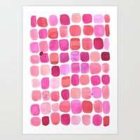 lipstick Art Prints featuring Lipstick by Amy Sia