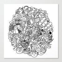 doodle Canvas Prints featuring Doodle  by Vibe-Art