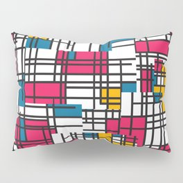 Pink, Blue, & Mustard Pillow Sham