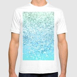 Seafoam Aqua Ocean MERMAID Girls Glitter #1 #shiny #decor #art #society6 T-shirt