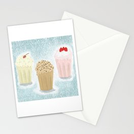 Trio Neopolitan Milkshakes Stationery Cards