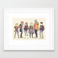 teen titans Framed Art Prints featuring Teen Titans Streetwear by L. Tharp