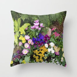 Floral Spectacular - Spring Flower Show Throw Pillow
