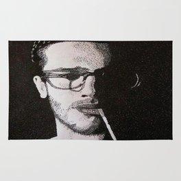 John Frusciante Pointillism Portrait Rug