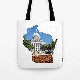 Beautiful Capitol Building in Wisconsin Tote Bag