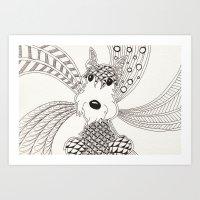 schnauzer Art Prints featuring Schnauzer by Noreen Loke