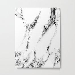 white marble no. 1 Metal Print