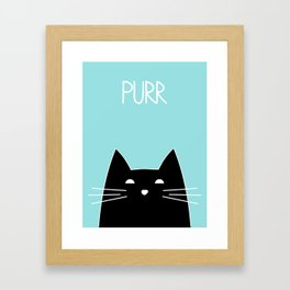 Purr Framed Art Print