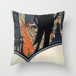 Johannesburg the metropolis of South Africa Vintage Travel Poster Throw Pillow