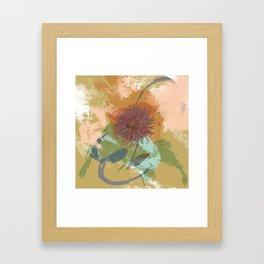Autumnal Brushstrokes, Abstract Floral Art Framed Art Print