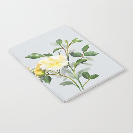 Yellow Watercolor Rose Notebook