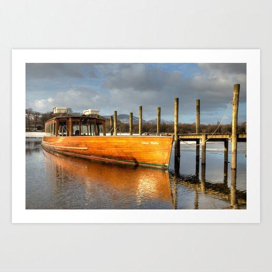 Derwent Water Launch Art Print