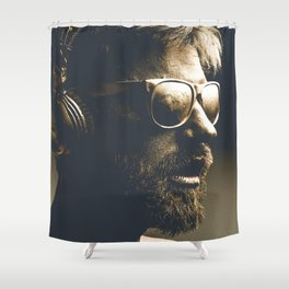 Painting man Shower Curtain