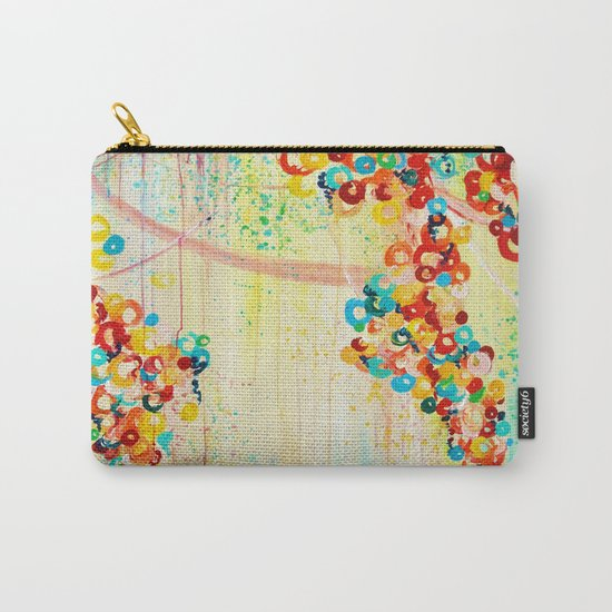 SUMMER IN BLOOM - Beautiful Abstract Acrylic Painting Vibrant Rainbow Floral Nature Theme  Carry-All Pouch