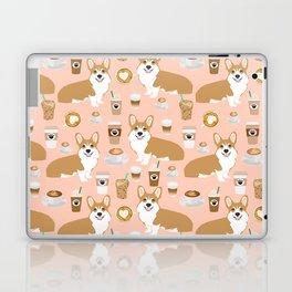 Corgi coffee welsh corgis dog breed pet lovers pink corgi crew pet lovers Laptop & iPad Skin