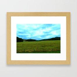 Blue Clouds Framed Art Print