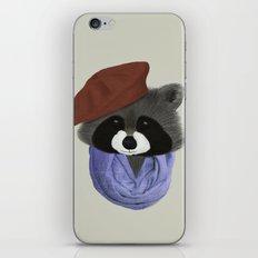 Hip Raccoon iPhone Skin