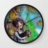 oz Wall Clocks featuring  oz by AliluLera
