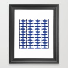 Indigo Stripe Framed Art Print