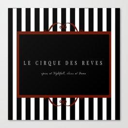 Night Circus Invitation Canvas Print