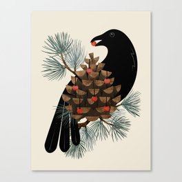 Bird & Berries Canvas Print