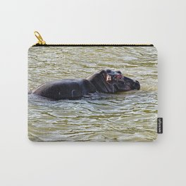 Baby Hippo Bathing River, Africa Carry-All Pouch