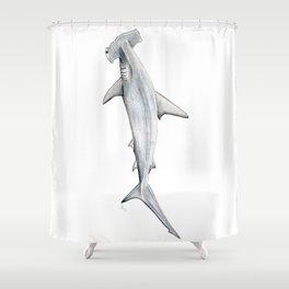 Hammerhead shark for shark lovers, divers and fishermen Shower Curtain