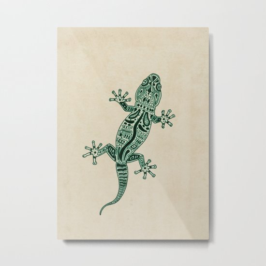 Ornate Lizard Metal Print
