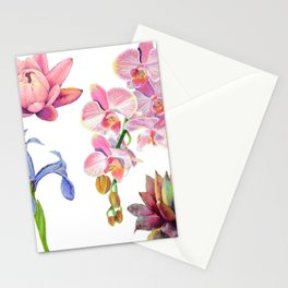 Flora and Fauna Pattern Stationery Cards