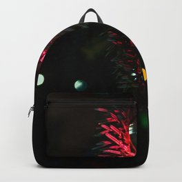 Little red Christmas tree light decoration Backpack
