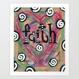 Faith Swirls Art Print