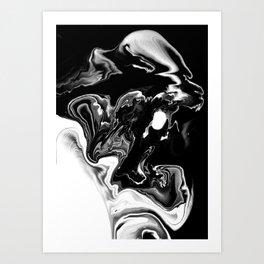 Tempête Noire Art Print