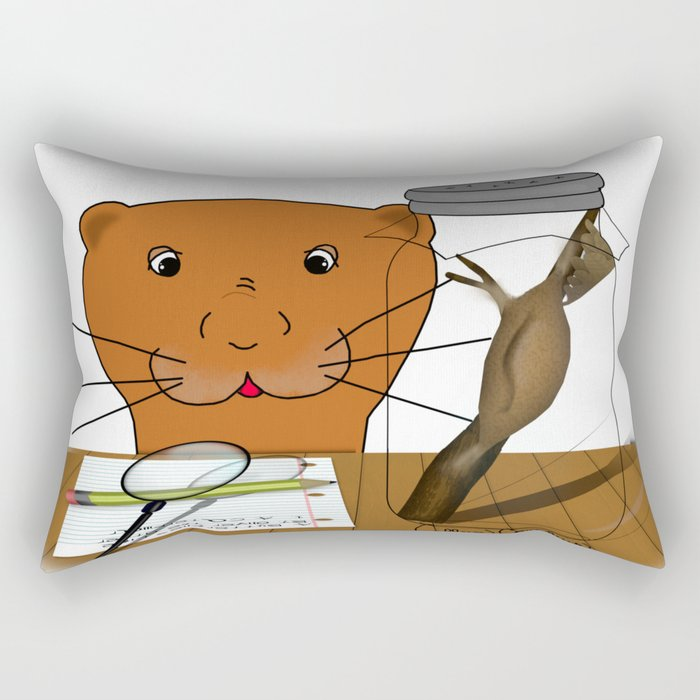 Homeschooling Oliver The Otter - The Cocoon Rectangular Pillow