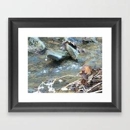 Frozen water drop Framed Art Print