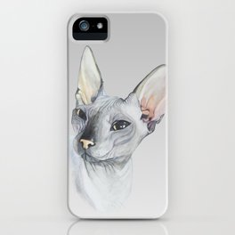 Cat Portrait #3 - Sphynx (2016) iPhone Case