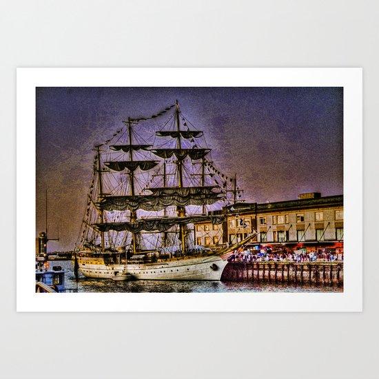 "Tall Ship ""Mircea"" Art Print"