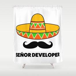 Senior Developer Shower Curtain