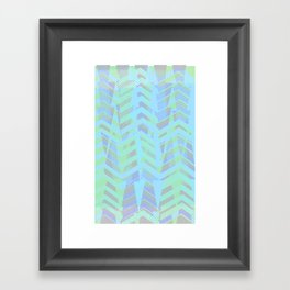 Seaside Chevron Framed Art Print