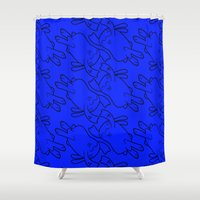 bunnies Shower Curtains featuring Bunnies by Michael Goodson