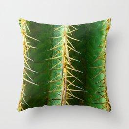 Cactus Spur Thorns Throw Pillow