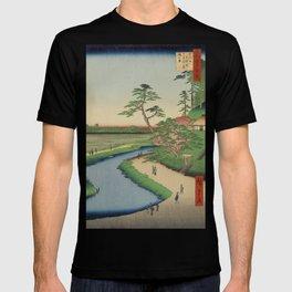 Spring Trees on Aqueduct Ukiyo-e Japanese Art T-shirt