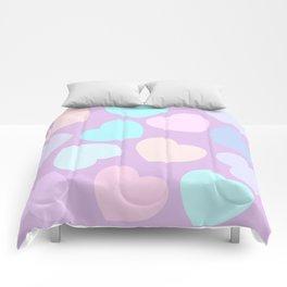 purple valentine Comforters