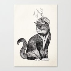 Wizard Cat | Graphite Canvas Print