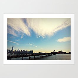 Ellis Island vs. Lower Manhattan Art Print